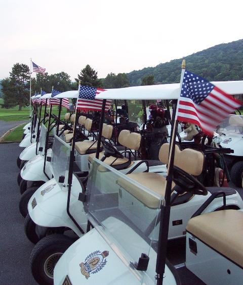 Golf carts at Carroll Valley, P.A, USA
