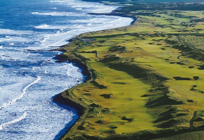Aerial view Kingsbarns Golf LInks