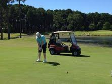 Golf carts at Sanctuary Cove