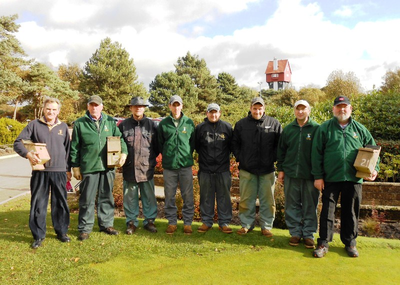 Award winning green keepers at Thorpeness Hotel and Golf Club