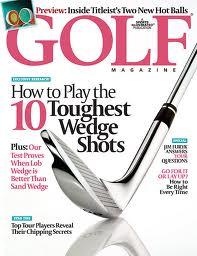 A golf magazine