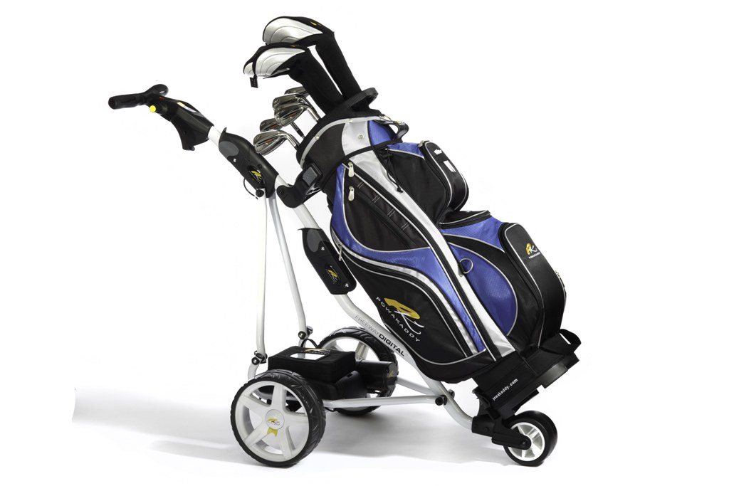 The New PowaKaddy Freeway Digital with 2012 PK Cart Bag