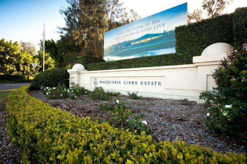 Entrance to Macquarie International Golf Links, Australia