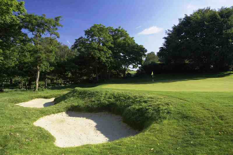 The 7th green at Burhill Old Course