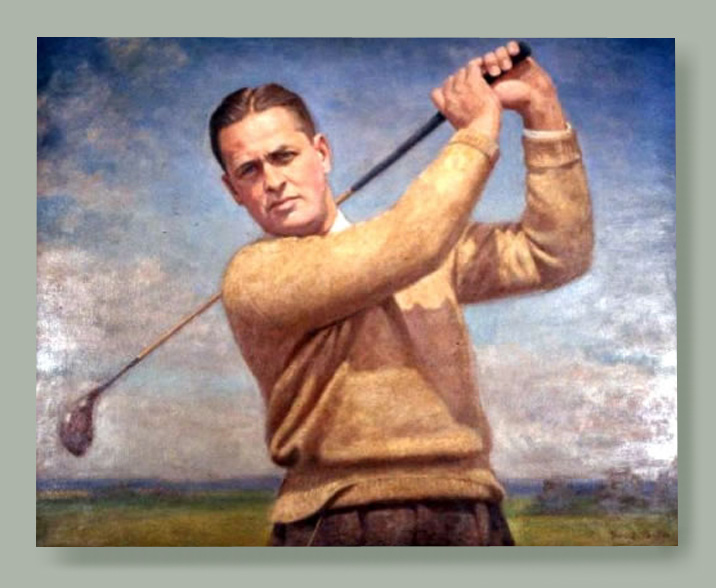 Legendary golfer Bobby Jones