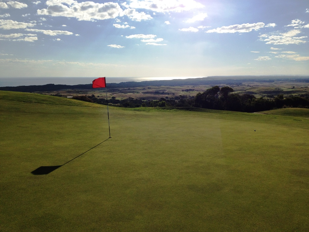 View from the 15th green at Cape Schanck Golf Resort