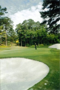 Redbud the 16th hole at Augusta National
