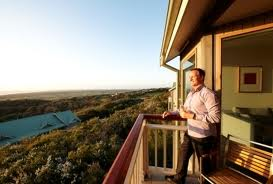 Enjoy a glass of Pinot on a private balcony at Cape Schanck