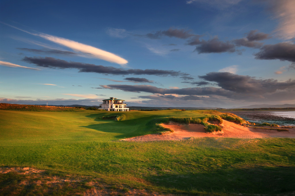 18th hole at Castle Stuart Golf LInks Inverness