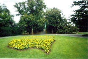 Flowerbeds at Augusta National