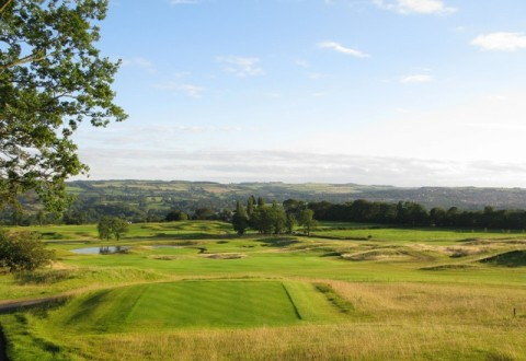 Views of Tyne Valley from Close House Golf Club, Northumberland