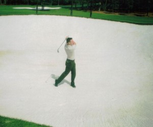 Sandy Lyle's bunker at Augusta National