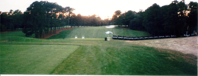 Dusky glow over Augusta National Golf Club