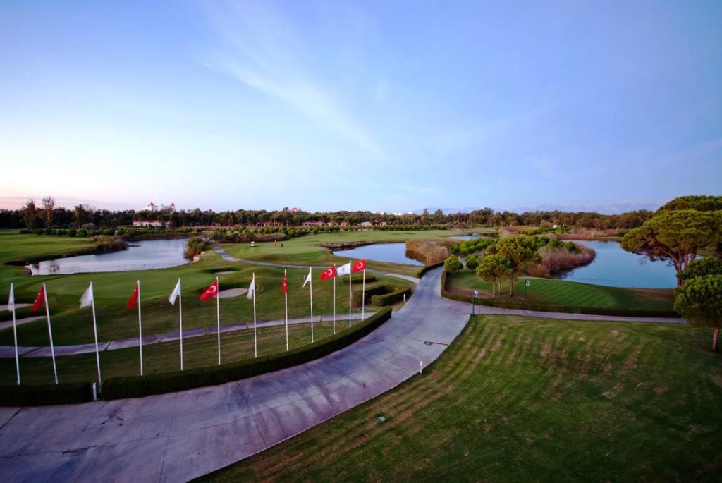 Impressive entrance to the Antalya Golf Club