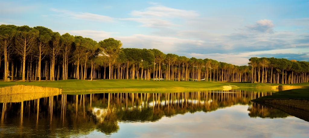 Reflection of great course design at Carya