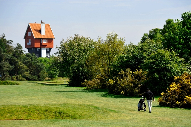 Thorpeness Golf Club is a riot of colour - gorse, heather and pine trees