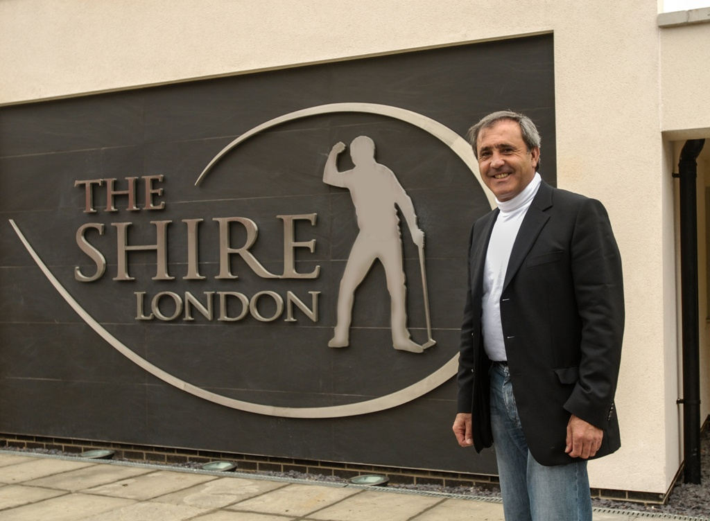 Seve at the opening of The Shire London