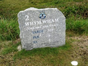 Perranporth Golf Club tee marker