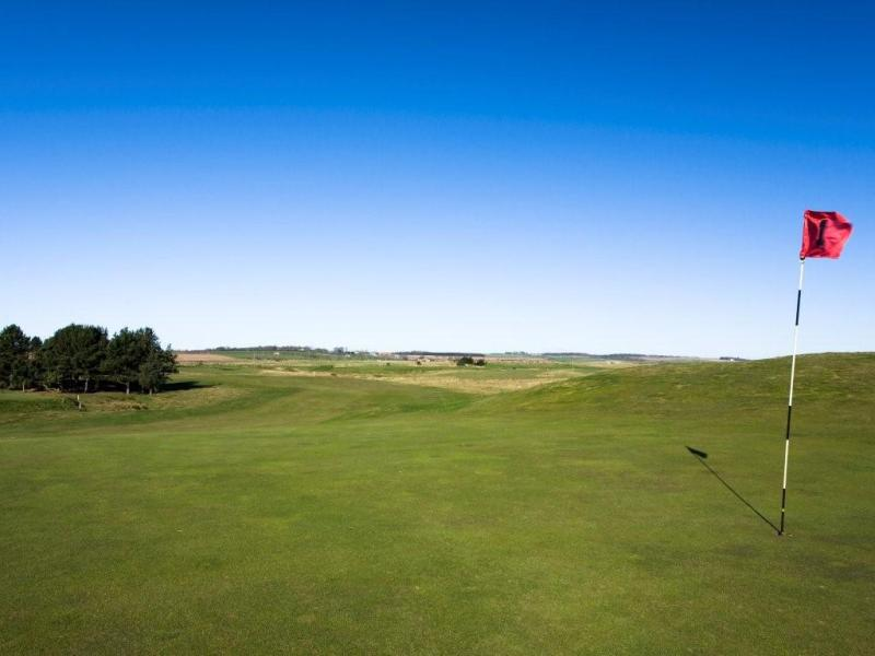 1st green at Goswick Golf Club