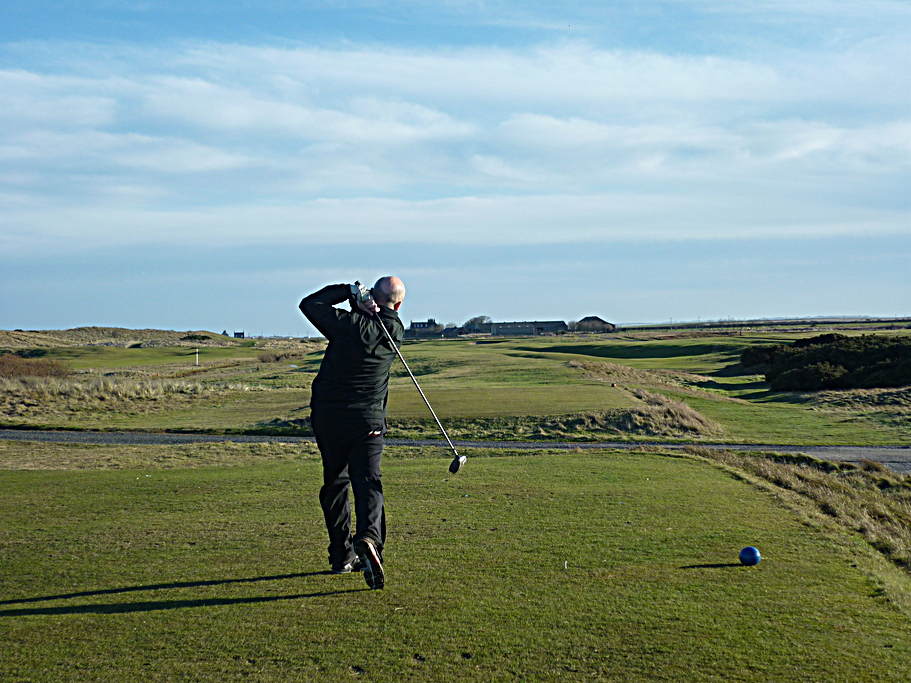 Teeing off at Goswick