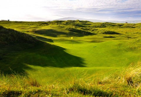 Hole 13 at Macrahanish Dunes Golf Club, Campbelltown, Scotland