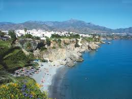 The sandy sweep of the Costa Del Sol in Spain