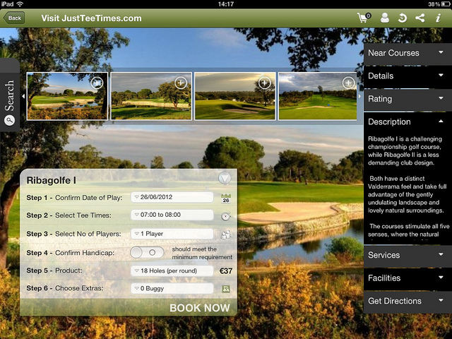 Ipad app saves money on golf breaks in Spain and Portugal