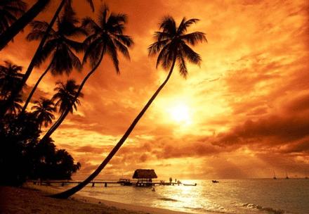 Famous Balinese Sunset