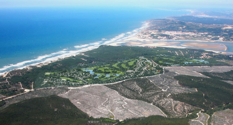 Seve's Royal Obidos course from the air