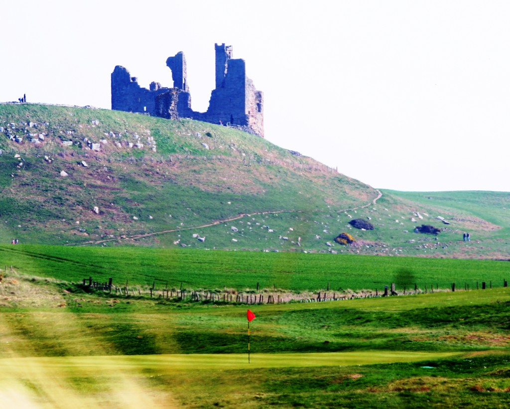 Dunstanburgh Castle Golf Club's Castle Hole - part of the Coast and Castles golf vacation in Northumberland