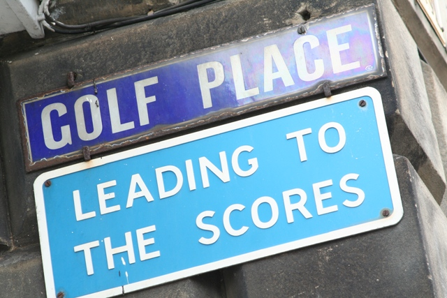 A street sign for Golf Place, St Andrews