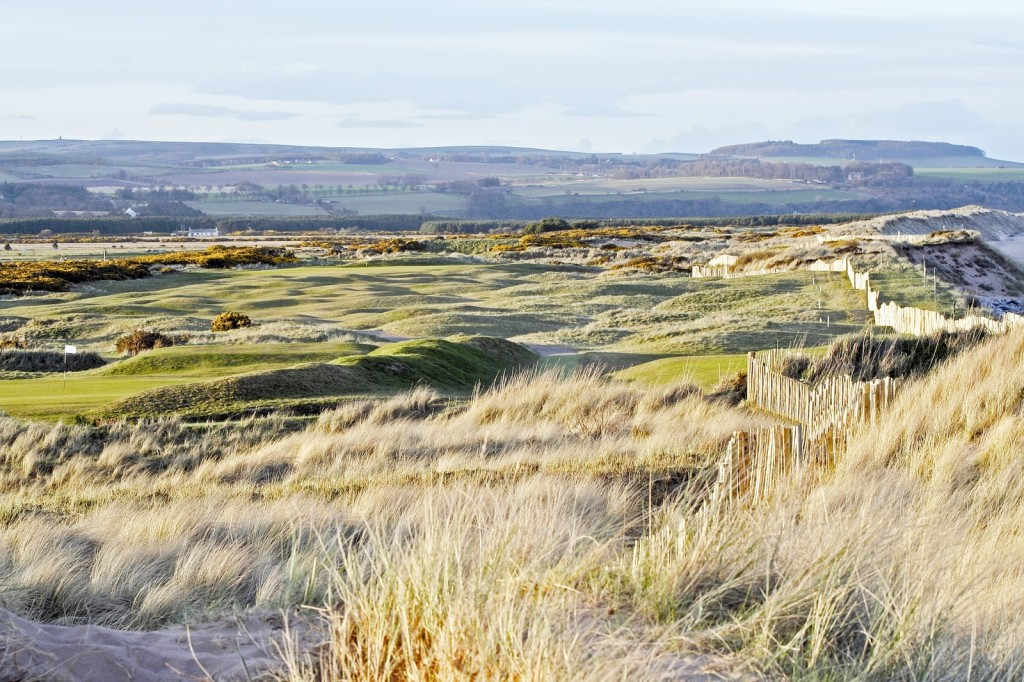 Links golf at Montrose in Scotland