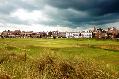 The village links golf course at Alnmouth