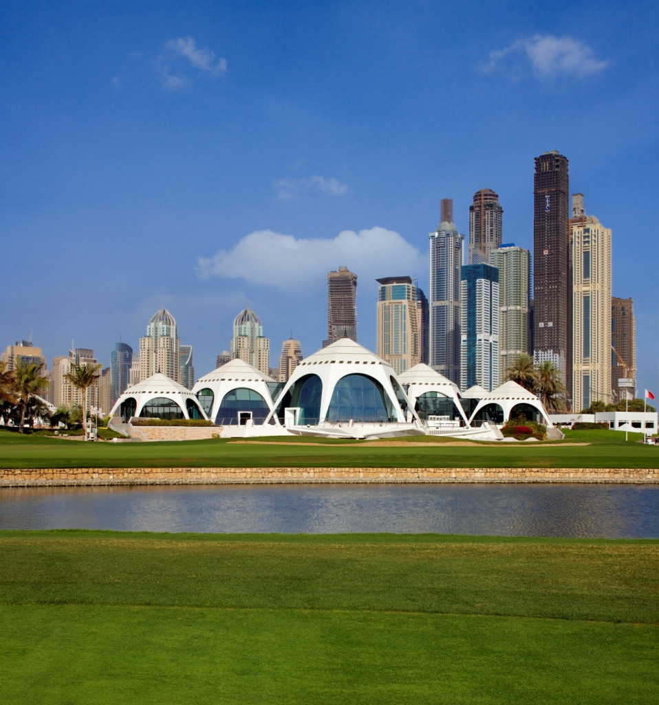 Emirates Dubai Clubhouse shaped like Bedouin style tents