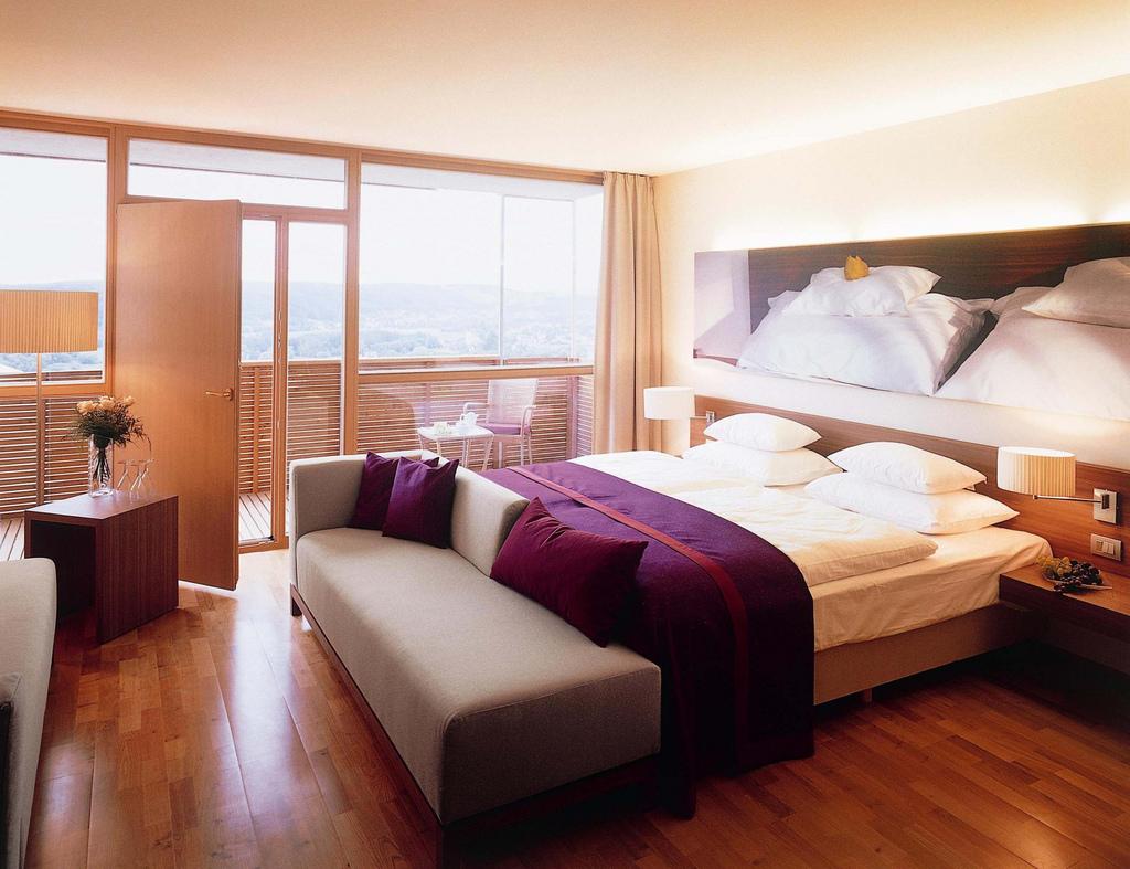 Beautiful pinewood Austrian hotel room