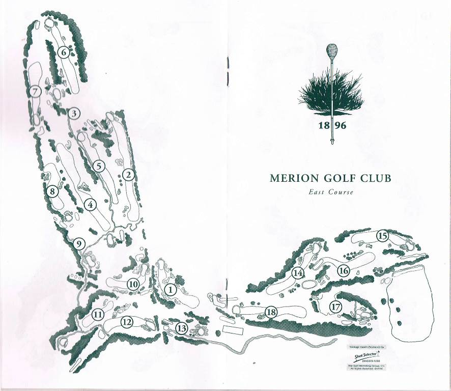 map of Merion Golf Club