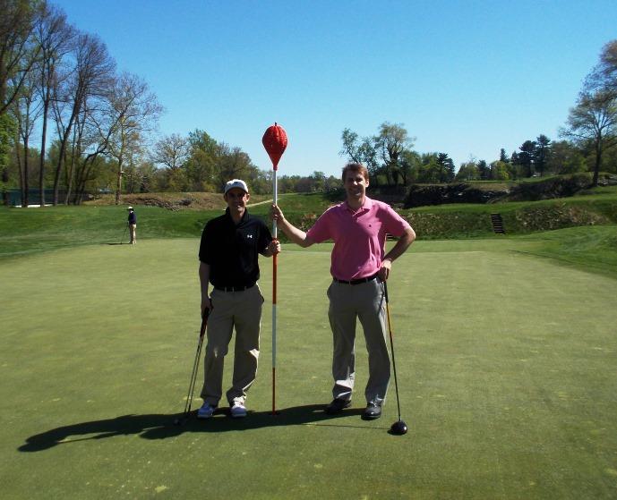 wicker basket flag at Merion Golf Club
