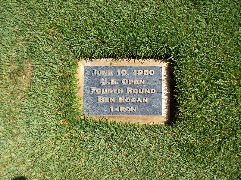 Ben Hogan's plaque 18th hole Merion Golf Club 1950 US Open 1-iron