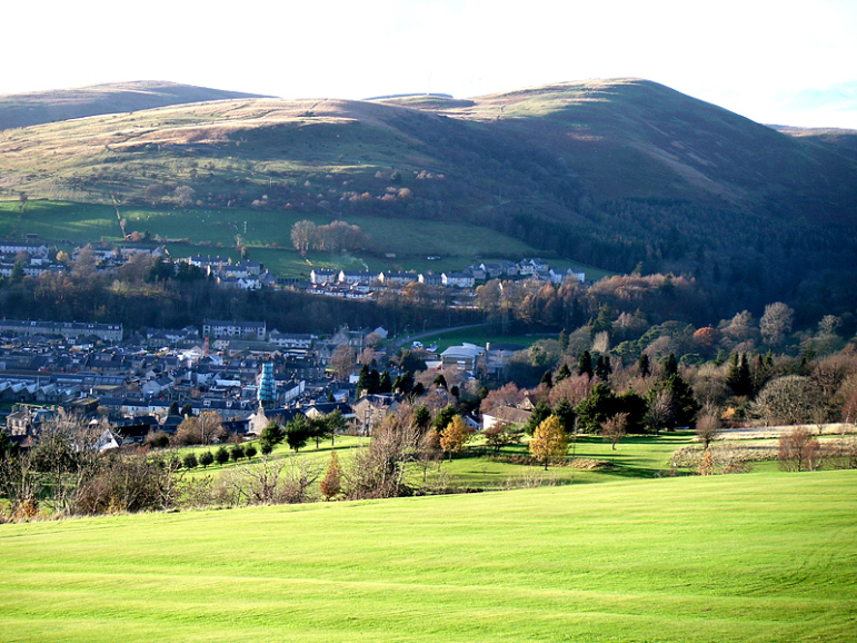 View from Langholm Golf Course