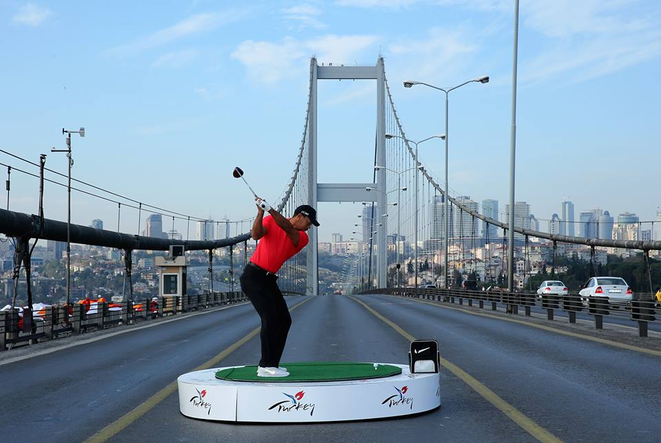 Tiger Woods Bosphorus Bridge