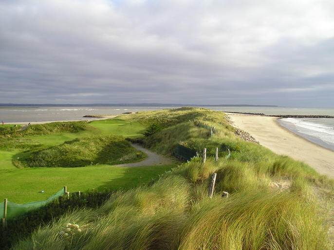 golf links at Rosslare Ireland