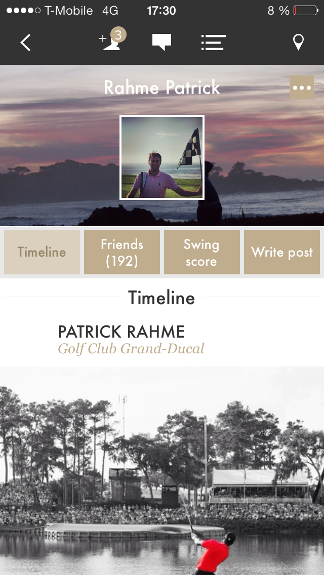 All Square social network for golfers