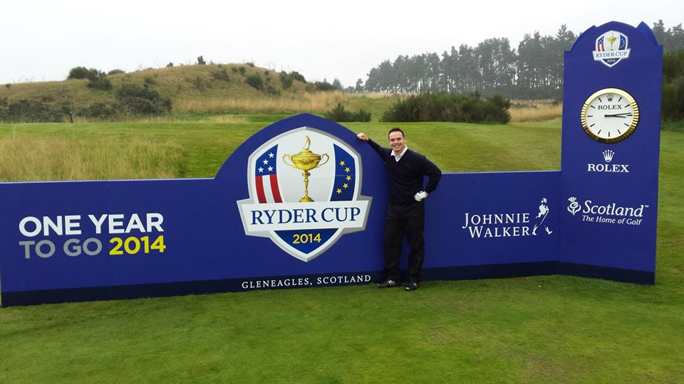 Global Golfer Editor Matthew Moore at Gleneagles PGA Centenary Course