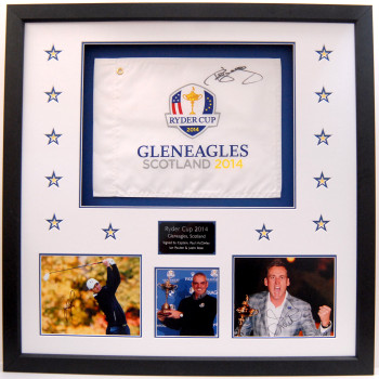 2014 European Ryder Cup Team Rose, Poulter and McGinley signed memorabilia