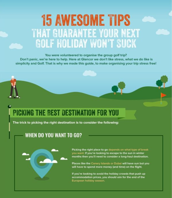 15 Top Tips for booking a golf holiday