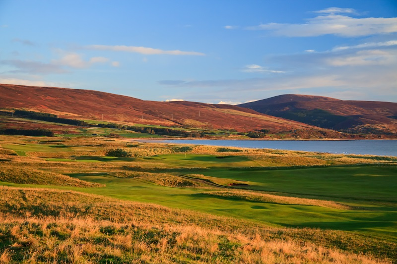 Majestic links terrain at Brora Golf Club in the Highlands of Scotland