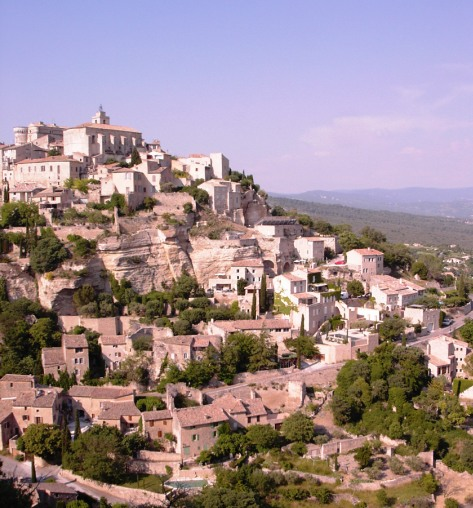 View of the town of Gordes in Provence, South Eastern France