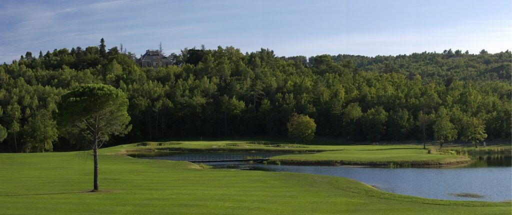 The Chateau on the 6th hole at Terre Blanche golf resort