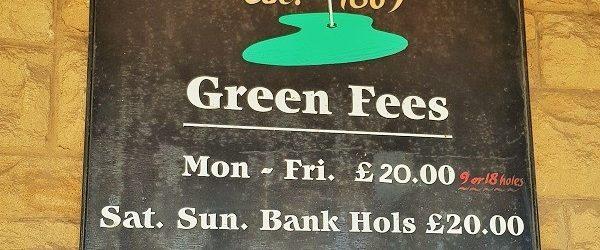 Honesty Box Golf in Northumberland
