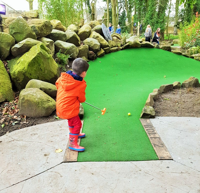Forgotten Garden Adventure Golf at Alnwick Castle and Garden